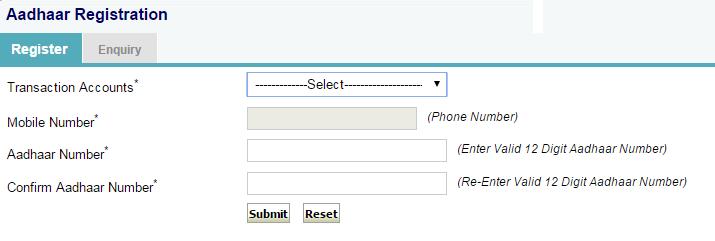 Link Aadhaar Card to SBI Bank Account registration