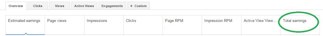 YouTube Earnings Report Adsense