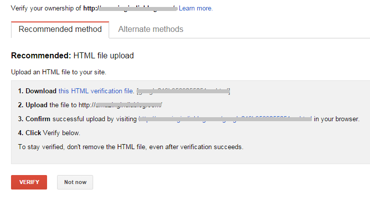How to Verify a Site on Google Webmaster HTML File