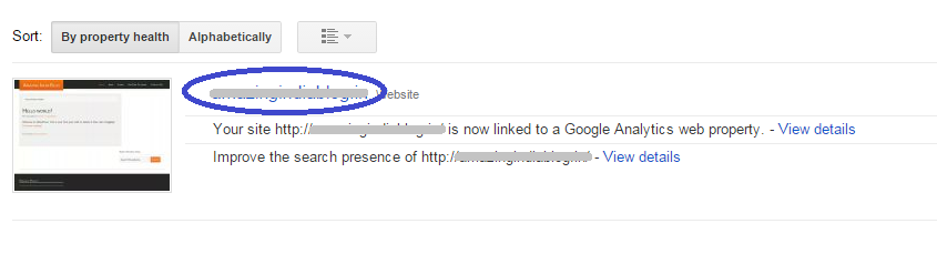 Google Site Verification Property Added