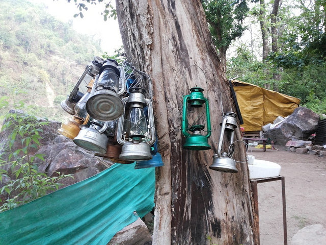Lanterns used in Camping, Rishikesh