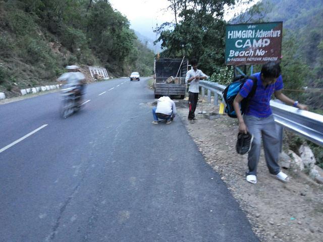 Getting to the Camp, Rishikesh