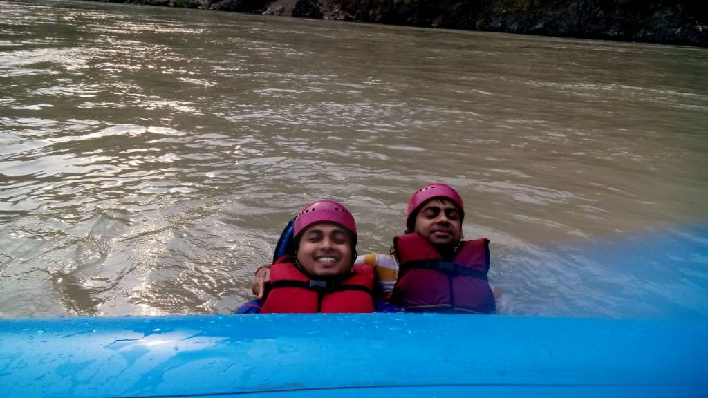 In the Ganga Rafting