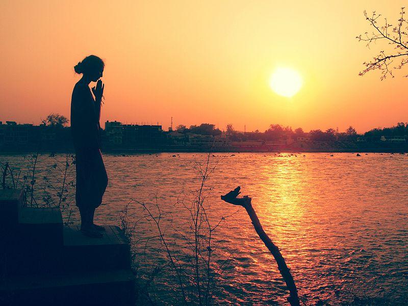 Sunset Prayer in Rishikesh