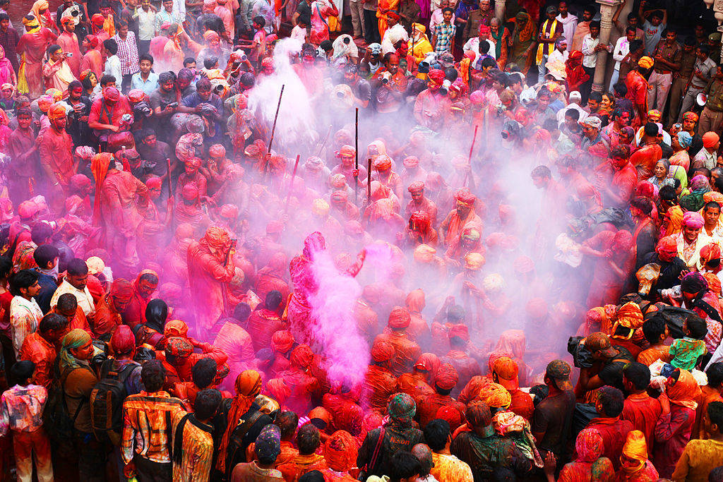 Lathmar Holi in Mathura