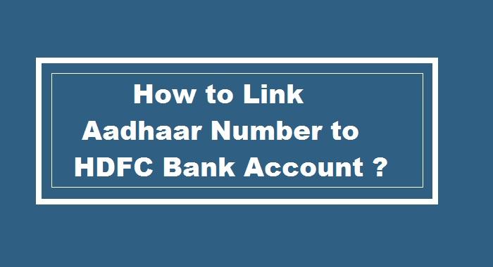 HDFC Aadhaar Seeding