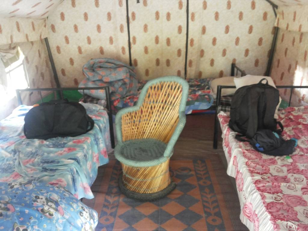 Tent from Inside, Rishikesh