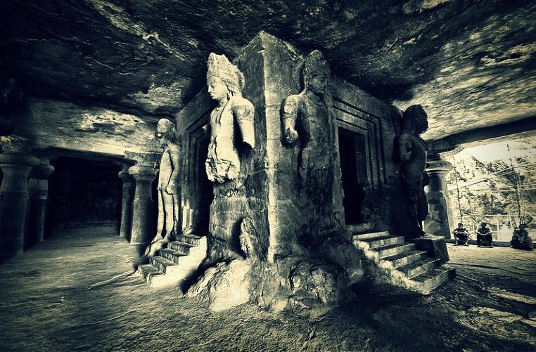 Elephanta Caves inside view