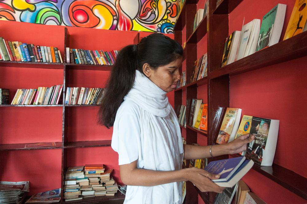 Sheroes Cafe Library Photo
