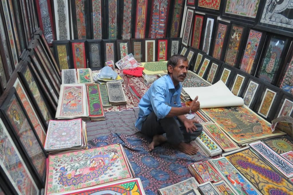 Madhubani Art from Bihar at Dilli Haat
