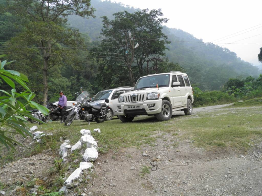 Car Parking at Jungle Camp, Rishikesh