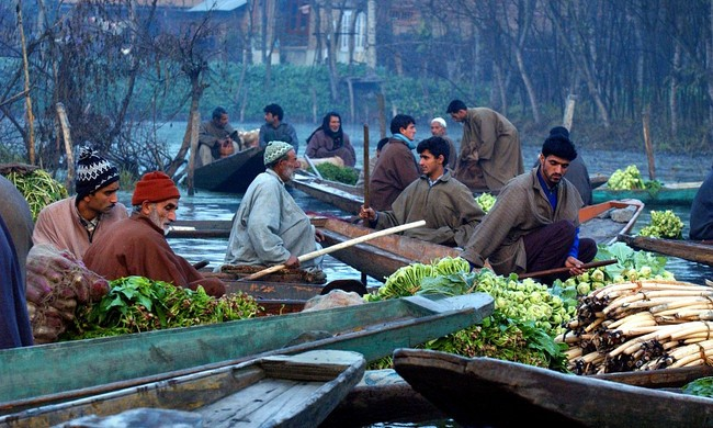 Floating Market in Dal Lake Srinagar