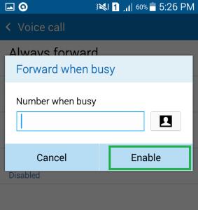 Forward When Busy