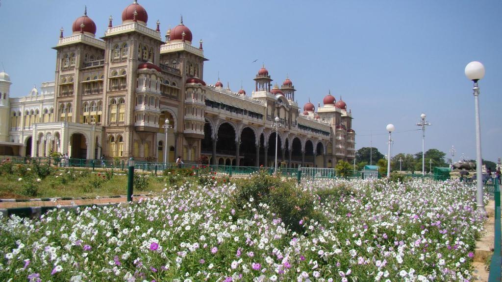 Mysore Palace Garden View