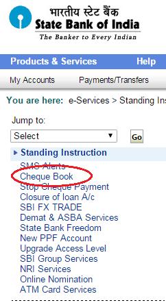 Sbi Online Cheque Book Request Form