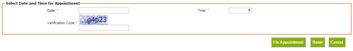 Aadhaar Appointment Select Date & Time
