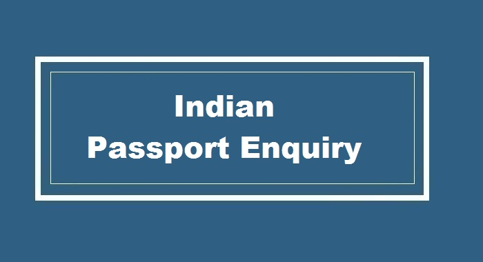 Indian Passport Enquiry