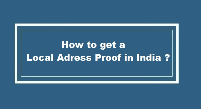 How to get Local Address proof in India