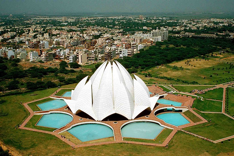 Lotus Temple Aerial View
