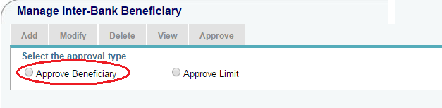 Approve Beneficiary in SBI