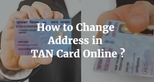 How to change Address in TAN Card Online
