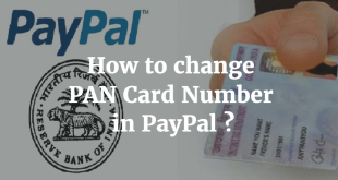 How to change PAN Card Number in PayPal