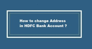 How to change address in HDFC Bank account