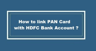 How to link PAN Card with HDFC Bank Account