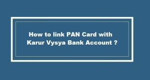 How to link PAN Card with Karur Vysya Bank Account