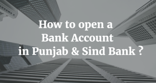 How to open a Bank Account in Punjab & Sind Bank