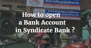 How to open a Bank Account in Syndicate Bank
