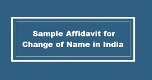 Sample Affidavit for Change of Name in India