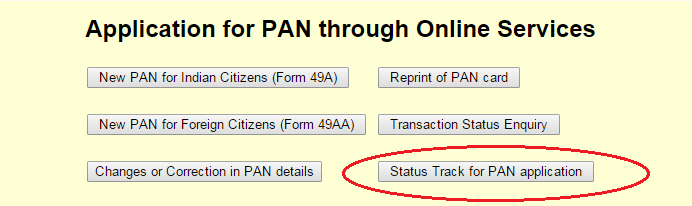 Status of PAN Application