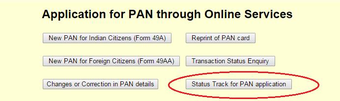 Status of PAN Application