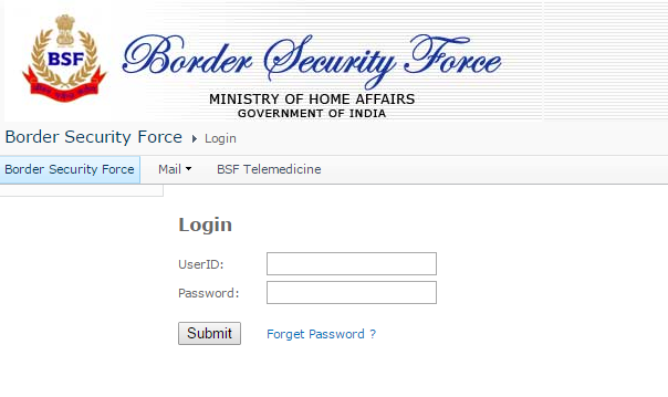 BSF Payslip Username and Password