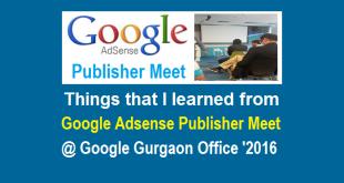 Google Adsense Publisher Meet Gurgaon 2016