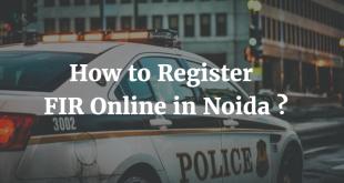 How to Register FIR Online in Noida