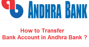 How to Transfer Bank Account in Andhra Bank