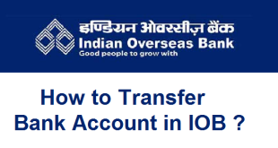 How to Transfer Bank Account in IOB