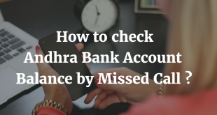 How to check Andhra Bank Account Balance by Missed Call