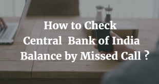 How to check Central Bank of India Balance by Missed Call