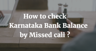 How to check Karnataka Bank Balance by Missed Call