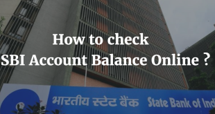 How to check SBI Account Balance Online