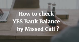 How to check YES Bank Balance by Missed Call