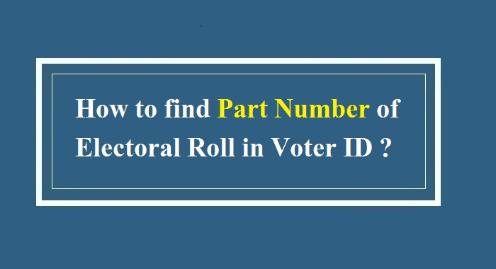 voter id card serial number