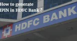 How to generate IPIN in HDFC Bank