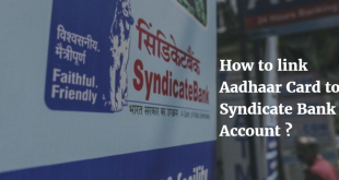 How to link Aadhaar Card to Syndicate Bank Account