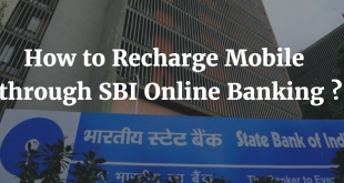 How to recharge Mobile through SBI Online Banking