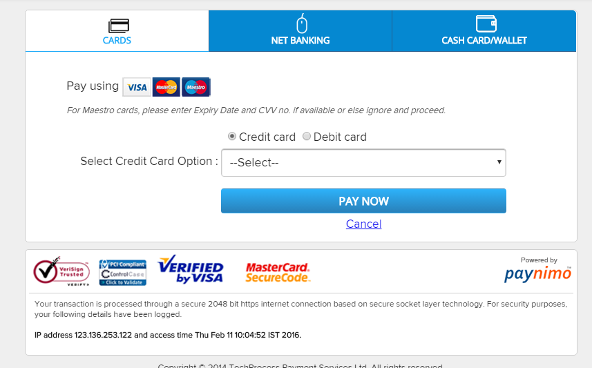 Tikona Bill Payment Options