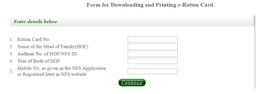 Download Ration Card Online in Delhi